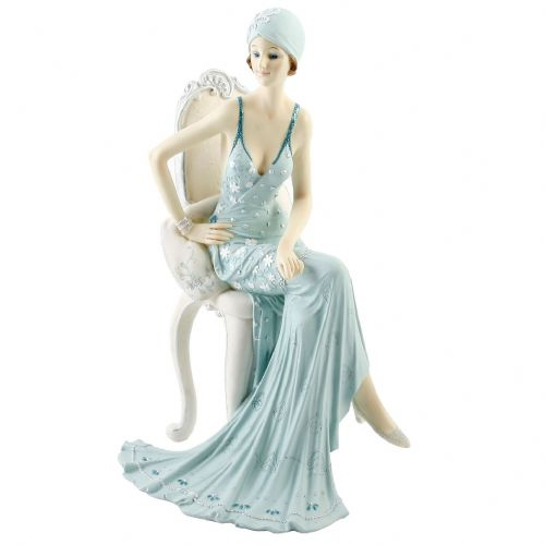 Juliana Broadway Belles Art Deco Lady Figurine Statue Sat On Chair 58378